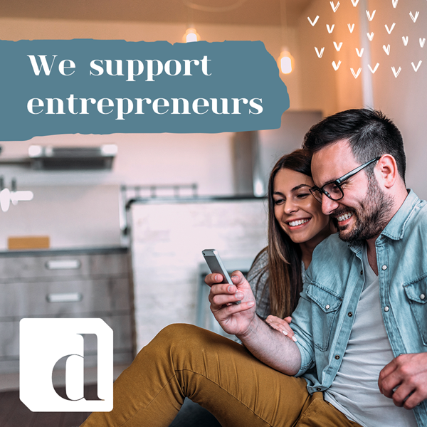 Image with statement We support engrepreneurs
